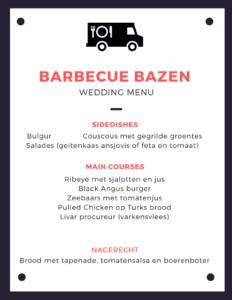 Barbecue Bazen Menu