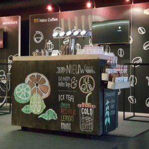 Mobiele Nitro bar setup tijdens congres
