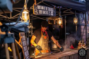 Barbecue van burgerfoodtruck Stacks