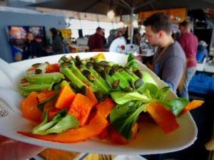 maaltijd met groente en peentjes